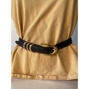 Black All Leather Belt Style# BT508934001